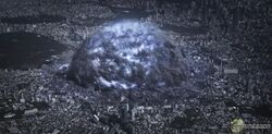 The Purge Bomb as it destroys part of Tokyo.
