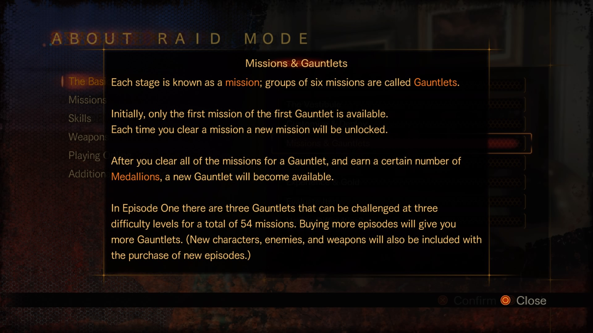 Missions & Gauntlets