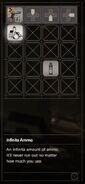 RESIDENT EVIL 7 biohazard Infinite Ammo inventory