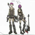 BIOHAZARD REVELATIONS 2 Concept Guide - Punk Rocker-style Moira.png