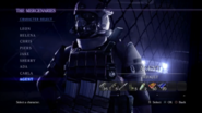 RE6 Agent Mercenaries Character Select Screen