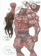 BIOHAZARD REVELATIONS 2 Concept Guide - Monster Neil concept art 1