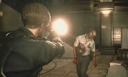 Marvin turns into Zombie RE2 remake 2