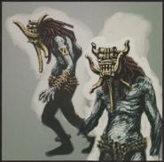 Resident Evil 5 Giant Majini concept art