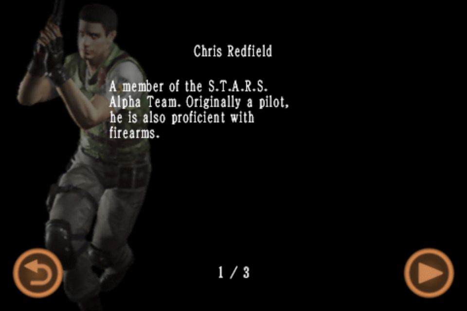 Chris Redfield (Mobile Edition file)