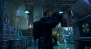 Resident Evil film - Warner in the station