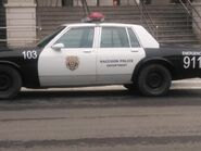 Resident Evil reboot production - police car