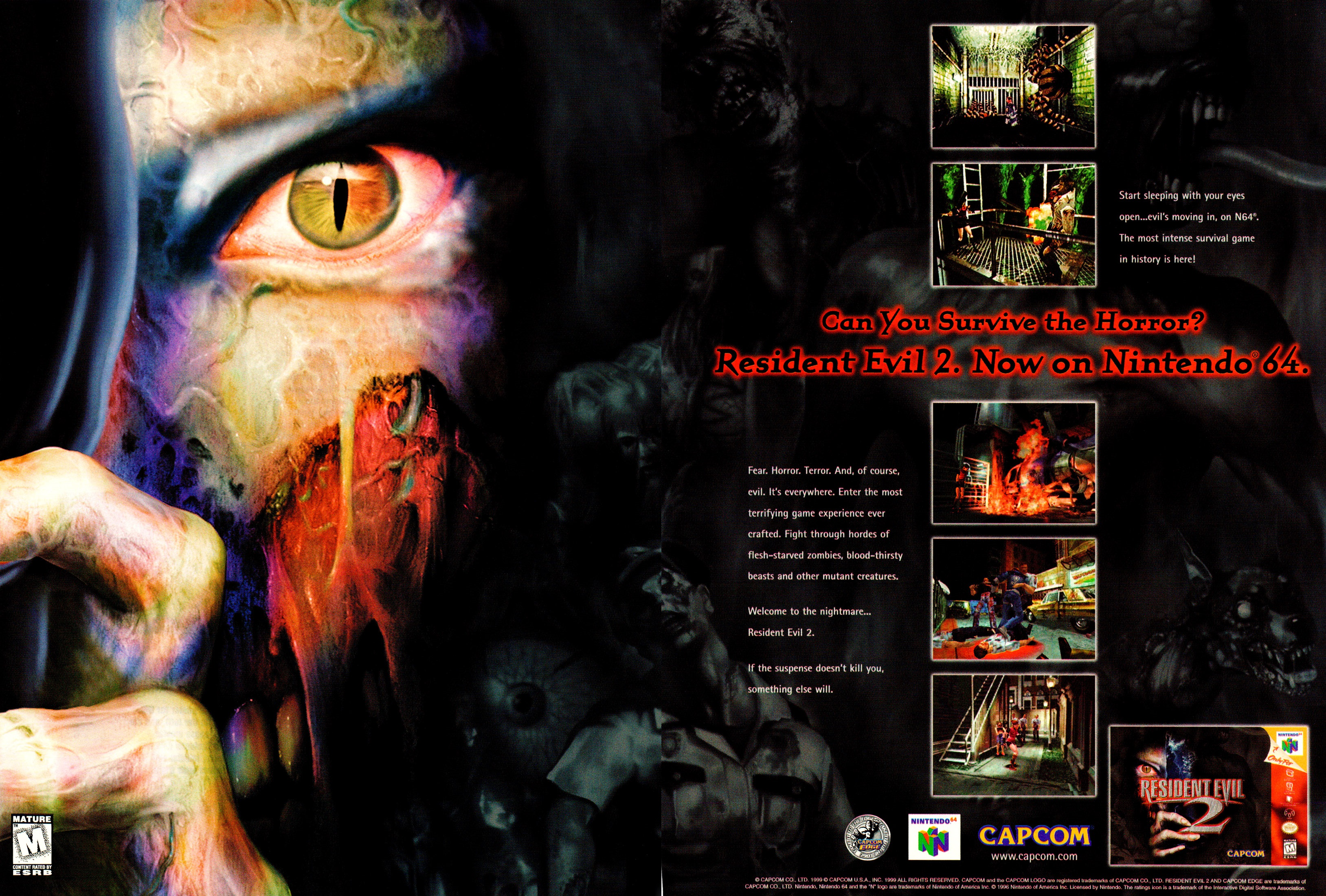 Electronic Gaming Monthly, issue 124 Resident Evil 2 ad