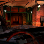 Resident Evil 3 background - Uptown - street along apartment building g - R10D0A.png