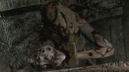 Lisa holds her mother's skull