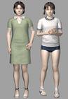 Resident evil outbreak yoko suzuki 3d ingame model alternate costumes