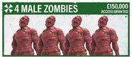 4 Male Zombies