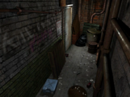 Resident Evil 3 background - Uptown - warehouse back alley b1 - R10201