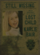 Karlie Bair missing person's poster2