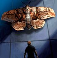 Resident evil outbreak giant moth papillon geant