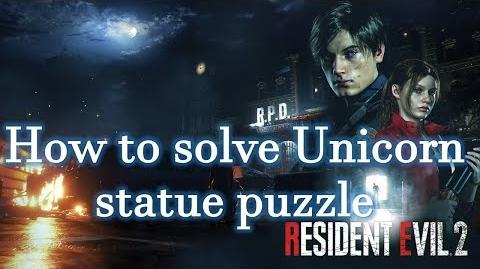 Resident Evil 2 Remake Guides How to solve Unicorn Statue puzzle-0