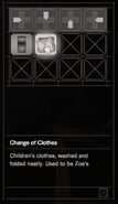 RESIDENT EVIL 7 biohazard Change of Clothes inventory