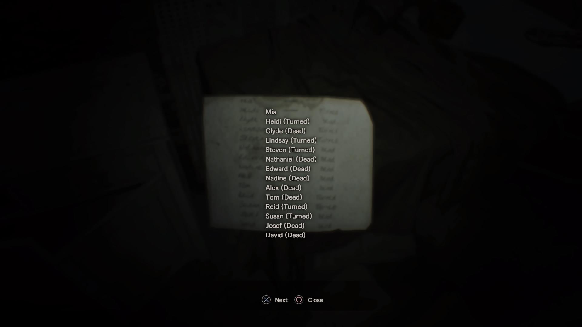 List of Names (Back)