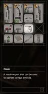 RESIDENT EVIL 7 biohazard Crank inventory