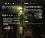Resident Evil Instruction Booklet 6