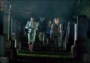 Alice & the others in the graveyard