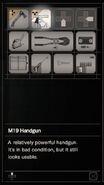 Resident Evil 7 Teaser Beginning Hour M19 Handgun inventory