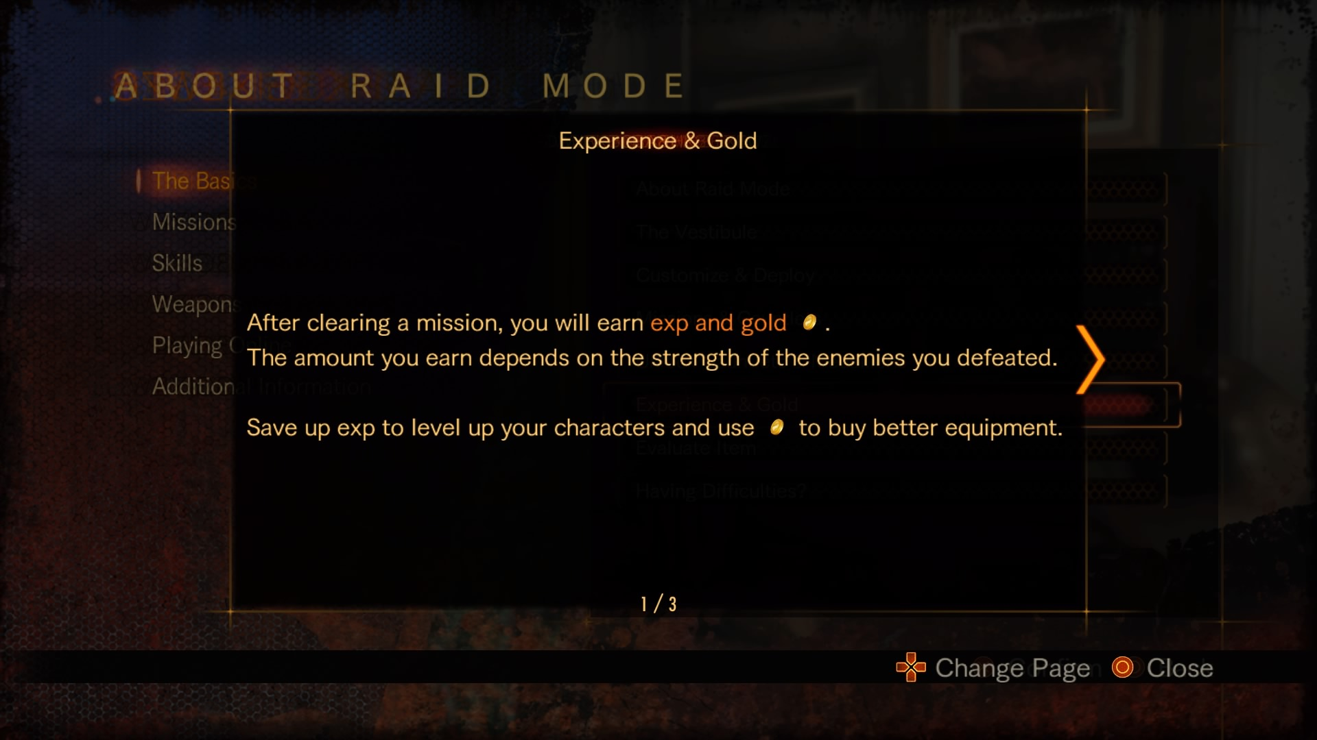 Experience & Gold