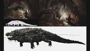 RE2 remake CONCEPT ART - Alligator