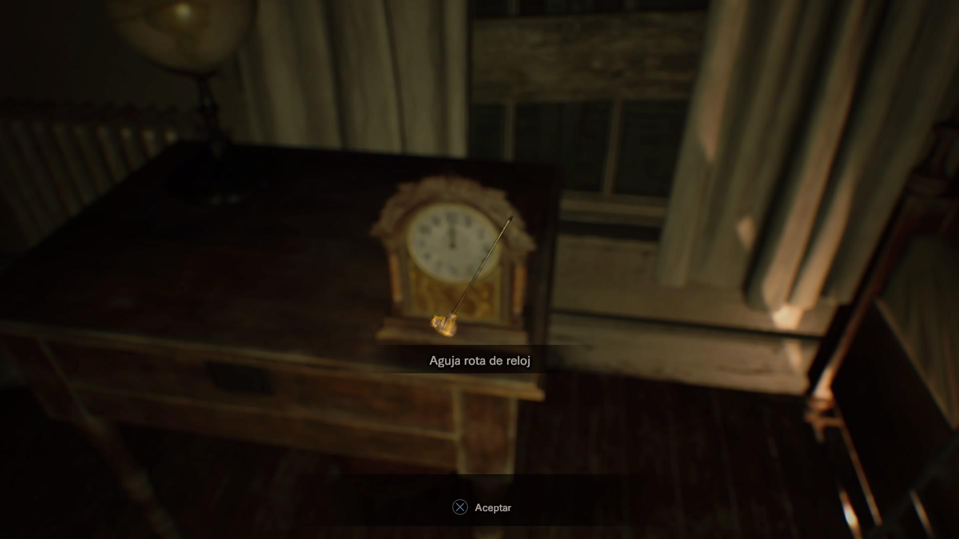Aguja rota de reloj