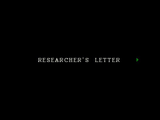 Researcher's Letter