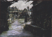 Resident Evil 4 concept art - Village Centre 2