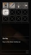 RESIDENT EVIL 7 biohazard Car Key Daughters inventory