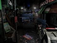 Resident Evil 3 background - Uptown - boulevard f2 - R11E05