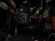 Resident Evil 3 background - Uptown - boulevard p2 - R11E0F