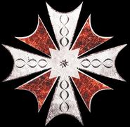 Blue Umbrella Logo (Red Version)