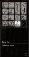 RESIDENT EVIL 7 biohazard Burner Fuel inventory