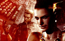 Excella and Wesker Wallpaper