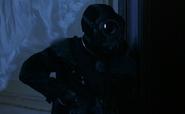 Resident Evil film - Warner wearing a mask