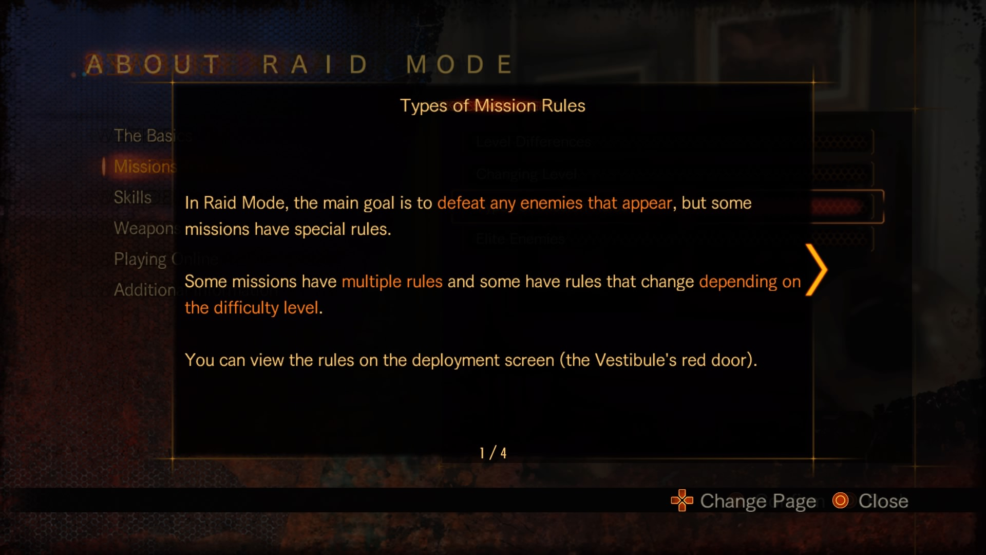 Types of Mission Rules