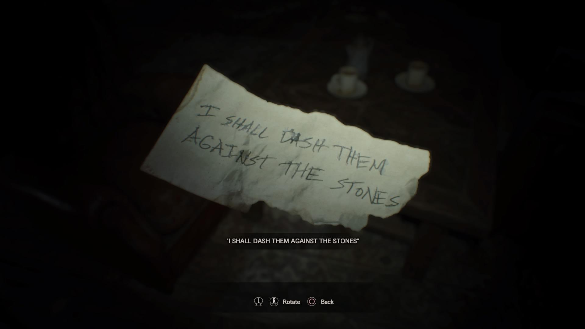 Creepy note