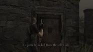 Resident Evil 4 Village - Church side door examine 2