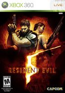 Resident Evil 5 Xbox 360 NTSC cover
