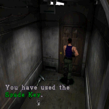 RE2 Spade Key 2F lobby use.png