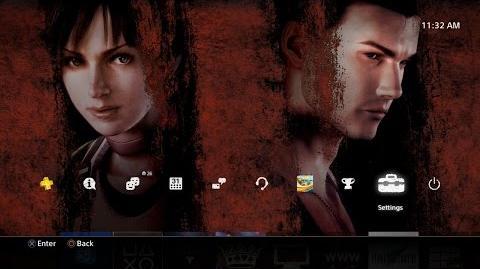 Resident Evil HD - Pre Order Theme PS4