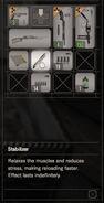 RESIDENT EVIL 7 biohazard Stabilizer inventory