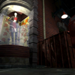 Resident Evil 3 background - Uptown - street along apartment building h - R10D04.png