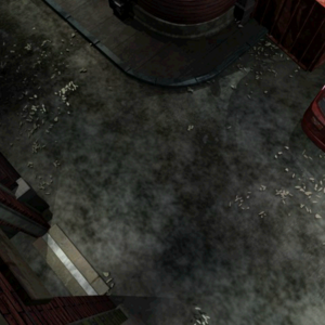 Resident Evil 3 background - Uptown - street along apartment building k - R10D07.png
