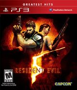 Resident Evil 5 Greatest Hits PlayStation 3 NTSC Box Art FRONT BBFC