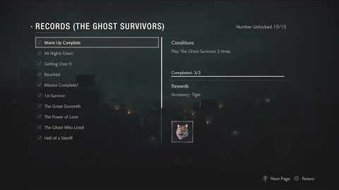RE2 - All The Ghost Survivors Records