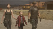 RE2make Claire, Leon, and Sherry, after escaping the Raccoon City